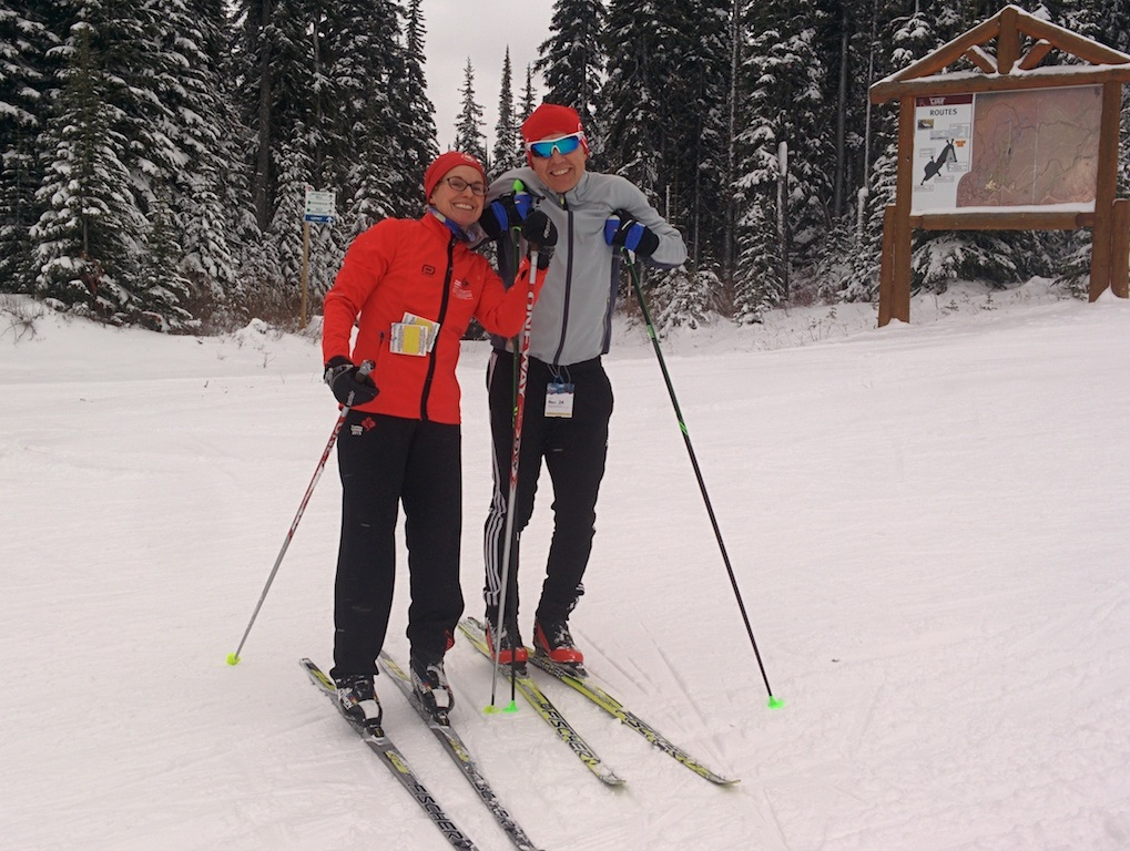 Amanda and Jacek made the trip from Kelowna for Jacek's first time skiing ever (Photo: SLNC)